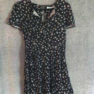 Kimchi Blue Black Floral Mini Dress